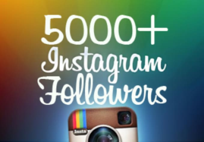 Buy 5000 instagram followers $5